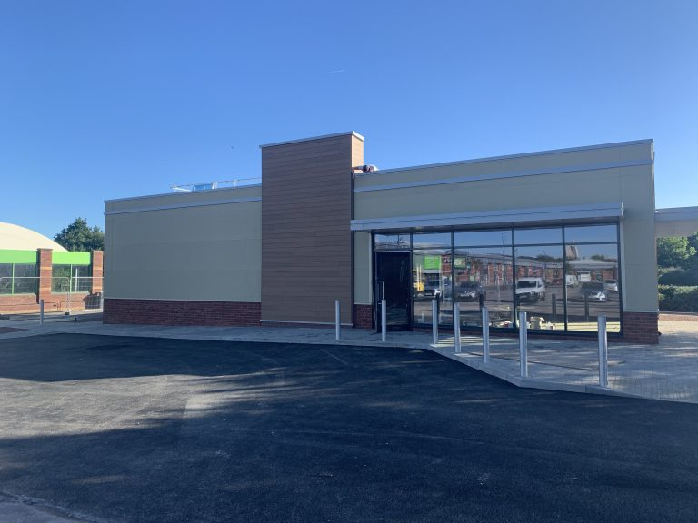 SAS Drywall Solutions Drive-Thru project